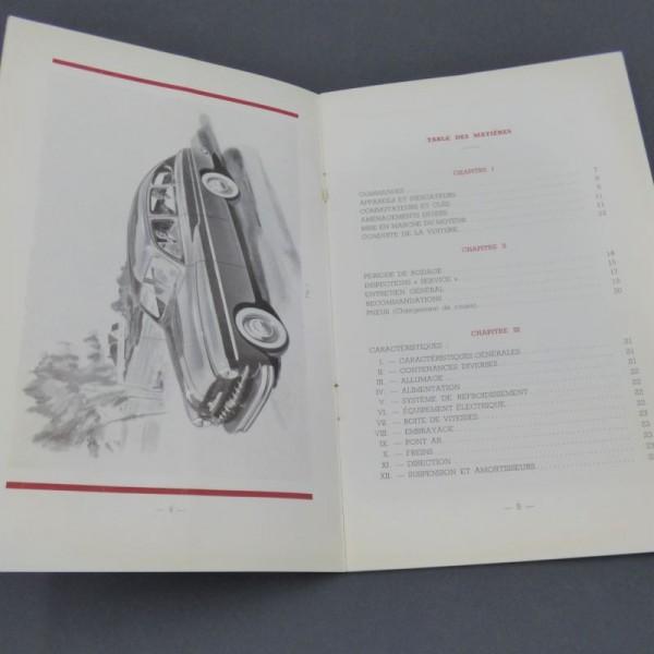 Ford Vedette owner's manual