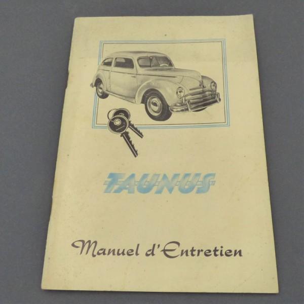 Ford Taunus Manuel d´Entretien