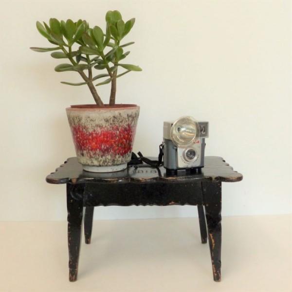 Antique wooden footstool....