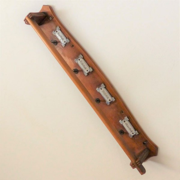Antique towel holder with...